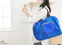 fashion cheap nylon foldable shopping bag with logo