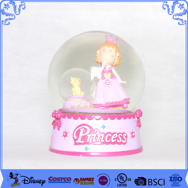 Decoration items princess create your own snow globe