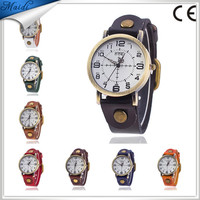 Free Shipping Men Fashion Wrap Winding Vintage Watch Cow leather Bracelet Watches Ladies Women Wristwatches MW-24