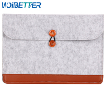 Fabric Pattern All Colors China Suppliers Felt Laptop Bag And Sleeve With Leather For 12inch Notebook Computer