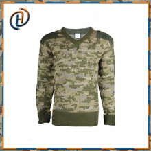 Durable western style mens military man wool sweater design