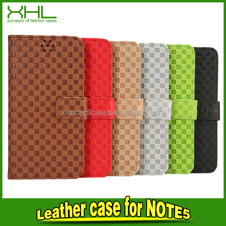 Voltage Holster Small Squares Leather Phone Back Cover for Samsung Galaxy Note 5 Leather Case Leather Case