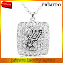 Top Quality American Professional Basketball Spurs Team Championship Full Rhinestone Necklace