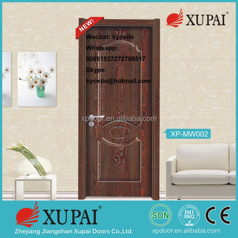 Shipping Free Melamine laminated compressed wood Inetrior Door Wholesale Price