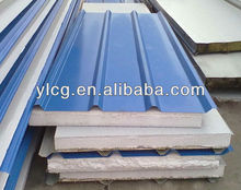 EPS sandwich roofing panel/high density water bubble polyurethane foam panel
