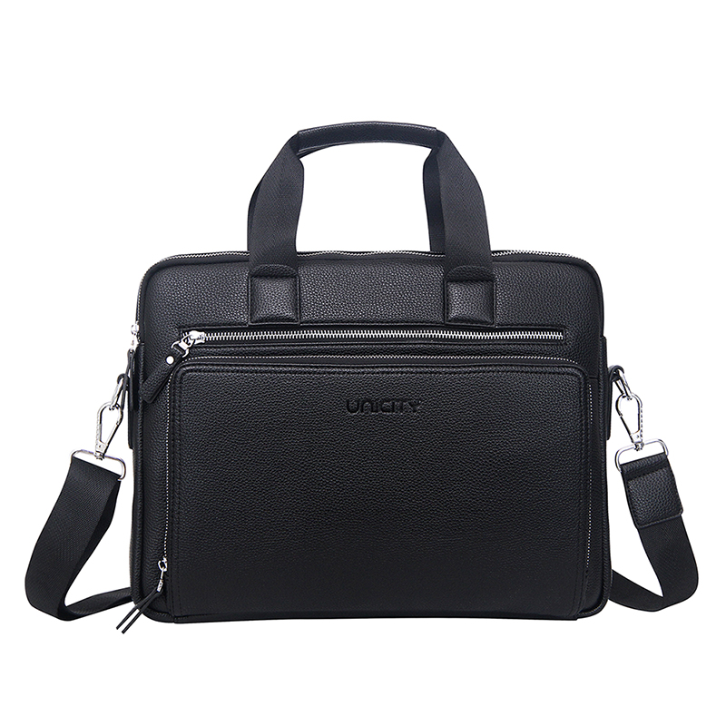 2018 OEM office business PU leather handbag/briefcase/laptop bag for men , factory price directly
