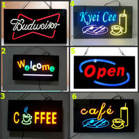 Customized battery powered open flash led sign for advertising and promotion . led resin sign / led open sign