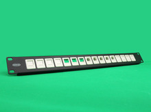 A01 16 port 1U RJ45 UTP blank patch panel