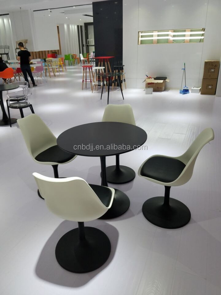 Z232 Wooden Tea Table Design Tulip Oval Dining Table Black Tulip Table