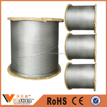 Elevator galvanized steel wire rope price manufacture in china