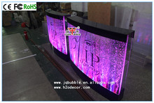 Customise cafe restaurant aqua bubble panel RGB bar counter design