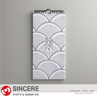 Special edition Foil stamp customize logo dragon wall calendar