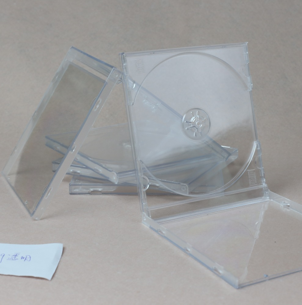2017 hot selling slim cd case 10.4mm clear wedding dvd cases cd cases