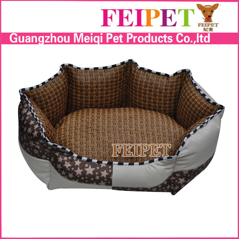 new pet products super soft summer dog bed with rattan cooling mat