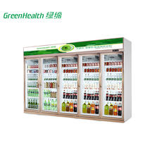 vertical multi-door display freezer and cooler