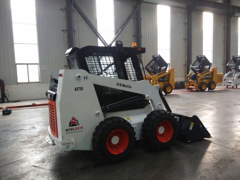 0.75TON AS750 small machine front skid steer loader manufacturers