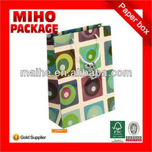 tiny paper bags/elegant paper gift bag/square bottom paper bag