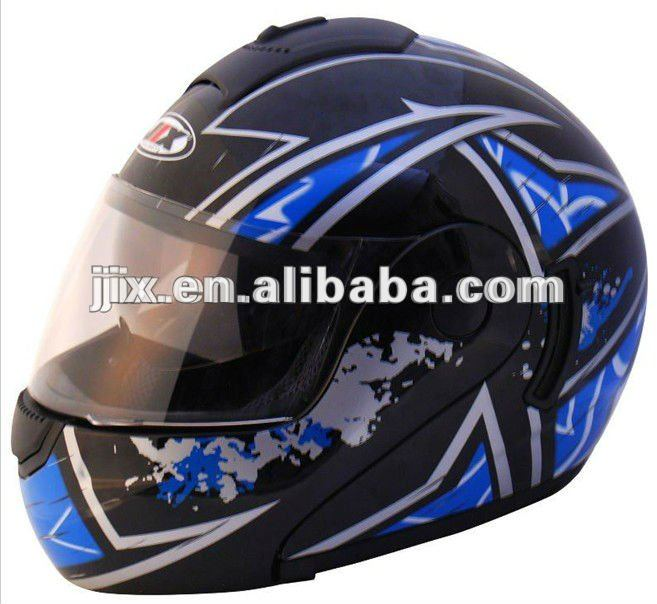 Flip-up helmet with single visors JX-A111-1