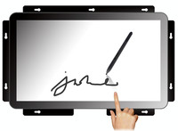 "low cost 18.5"" open frame industrial touch monitor, pcap touch screen and tft lcd panel"