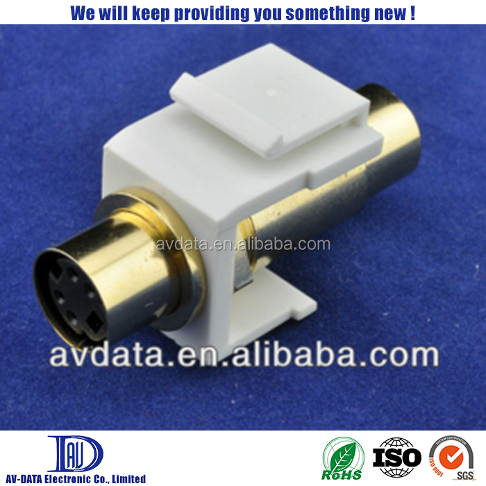 S-VHS Keystone Jack, 4pin Female S-Video Adaptor, Gold Plated