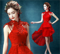 High quality hotsale red wedding dress for islamic, muslim and indian bridal