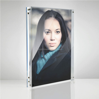 Free Standing Table Clear Block Frame Acrylic Magnetic Photo Frames