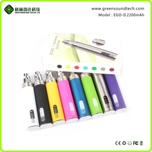 green sound refillable rechargeable ego electronic cigarette ego ce5+ GS II 2200mAh battery