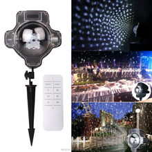 Christmas outdoor white color snowfall projector light holiday garden laser light waterproof IP44