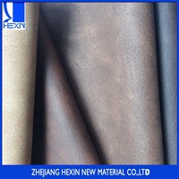 Fashion new design 0.8MM pu synthetic leather of crazy-horse grain effect for casual shoes and boot