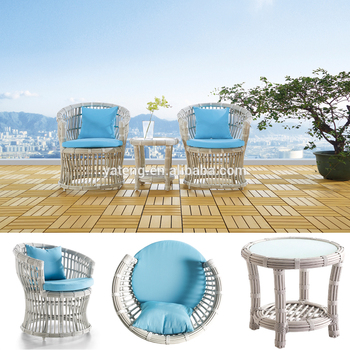 Best price wicker outdoor table and chair for 2 set Costa coffee