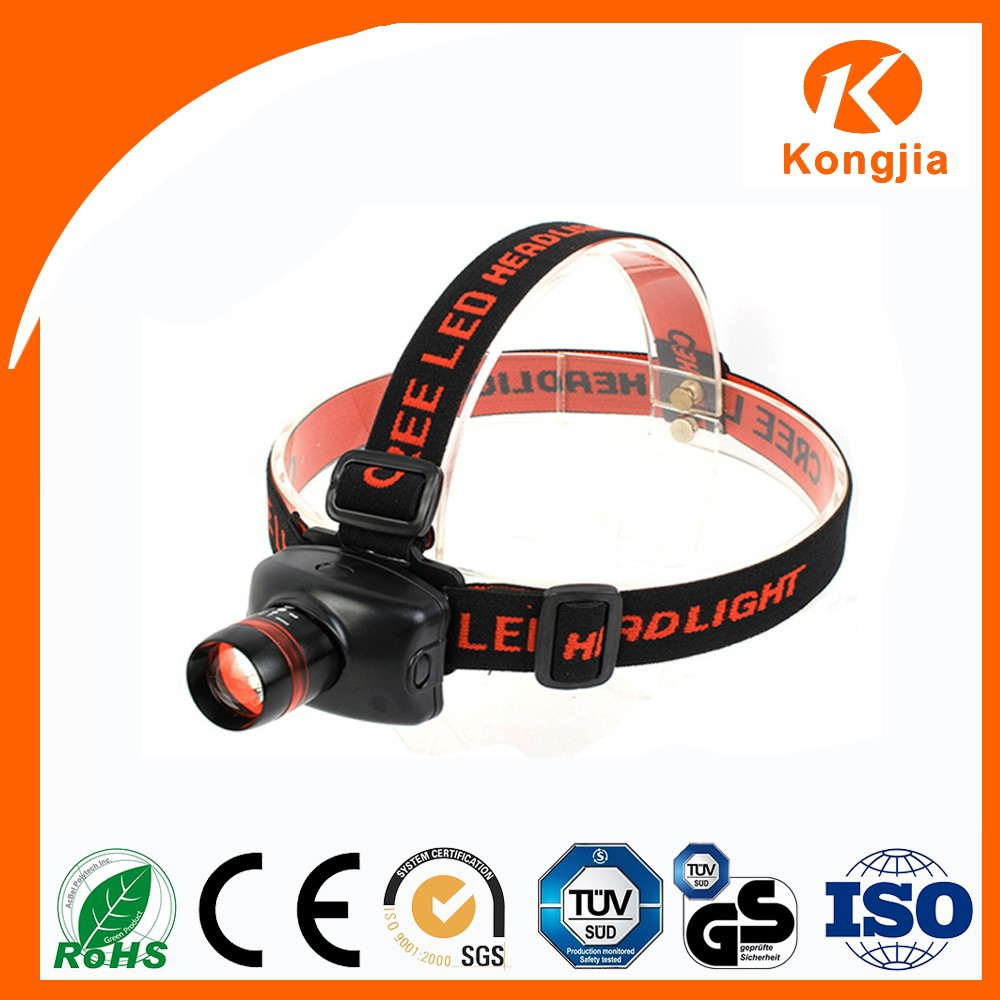 Kongjia Aluminum Alloy & ABS 3Watt Led Zoomable Headlamp Kids with Red Light