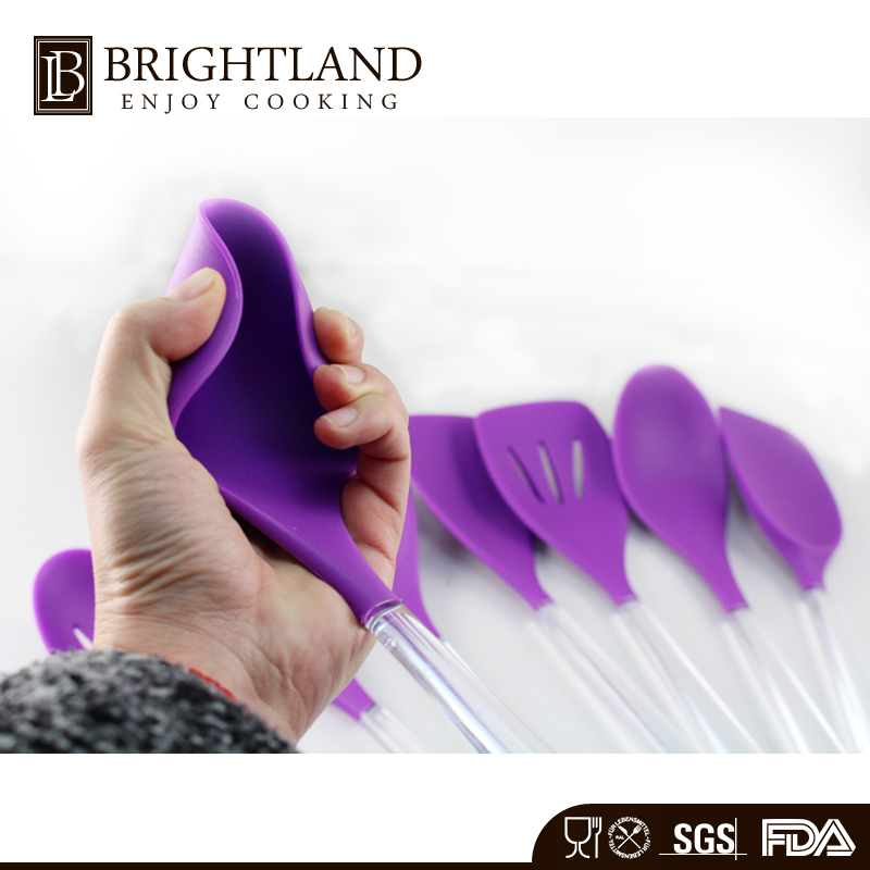 New Design Silicone Kitchen Utensil Set With PP Handle