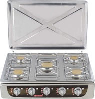 5 burners good quality gas hob full stainless steel gas hob