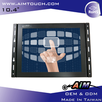 10.4 inch 4:3 Open Frame foldable 1024x768 Resistive Touch Screen