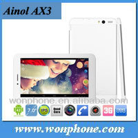 "Ainol AX3 3G Android 4.2 7"" IPS Tablet PC Phone Call MTK8382 Quad Core 1G 16G two camera GPS FM Bluetooth"