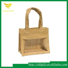 Jute burlap display bag with windows