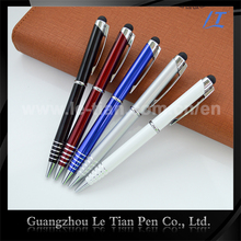 Custom logo glitter phone touch style pen Aluminum metal pen with stylus