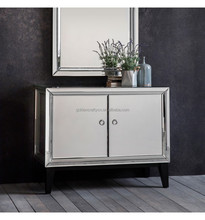 New Silver Mirrored 2-Door Cabinet