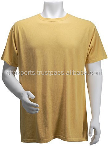 PTS-300085 100% Cotton 180 gsm Short Sleeves Round Neck Plain Vegas Gold T-Shirt
