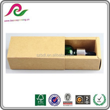 cheap essential oil gift box packaging brown kraft paper drawer box