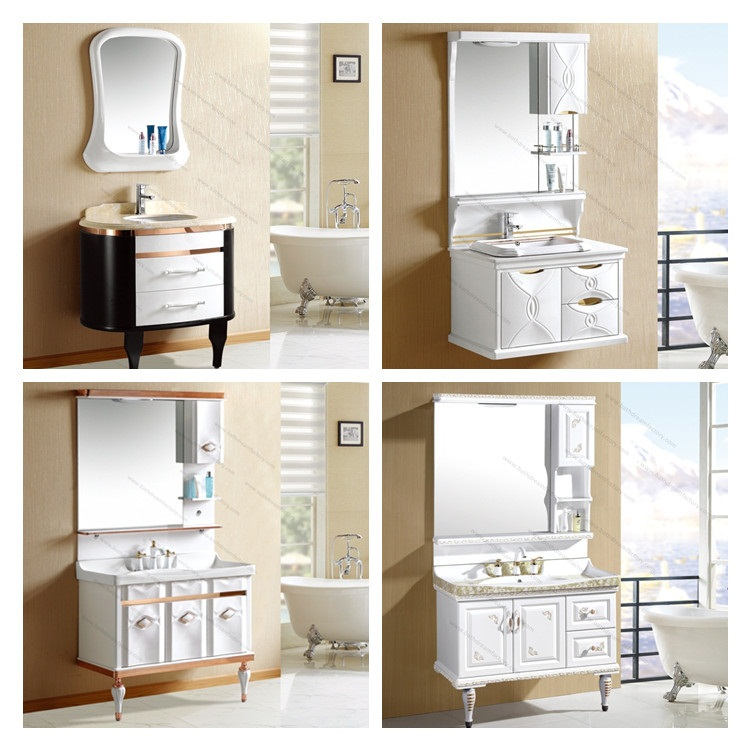 classical plastic bathroom mirror vanity cabinet and