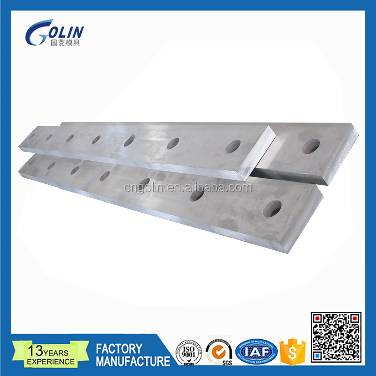 shearing blade for cutting sheet steel