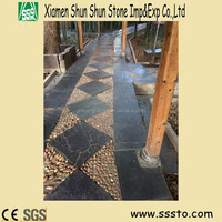 Cheap Price Black Interlocking Outdoor Slate Tile for Garden Decoration