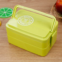 L00111 2018 unique design with spoon and fork set kid bento lunch box/Storage Boxes & Bins Type &Silicone+plastic lid lunch box