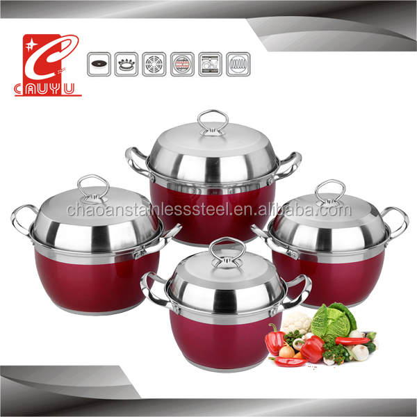 hot sale stainless steel large cooking pots CYCS58B-2Ar