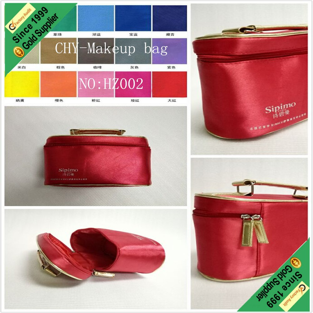 china supplier new arrivel fashion luxury cheap price gift screen printing red color cosmetic case pouch make-up bag with zipper