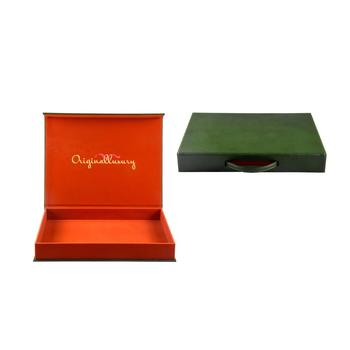 Premium dark-green lightweight  crafe gift packaging box