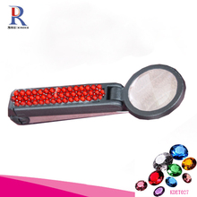 2015 hot sell red color plastic cute portable LED light tweezer with 10x magnifier
