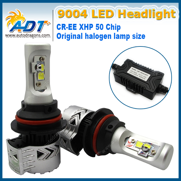 For Audi A8 For Ford S-MAX No Error 8G H3 Auto Led Headlight Kit DC12V-24V 40W 6000K 6000LM CR XHP 50 High Power Headlamp