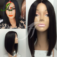 2016 Wholesale Bob Style Human Hair Full Lace Wig High Quality 12 Inch Bob Wig Short Bob Wig In Stock